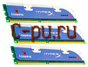 116Gb DDR-III 1600MHz Kingston HyperX (KHX1600C8D3K3/6GX) 3x2Gb KIT