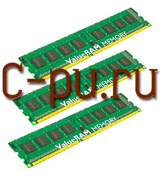 116Gb DDR-III 1333MHz Kingston (KVR1333D3N9K3/6G) (3x2Gb KIT)